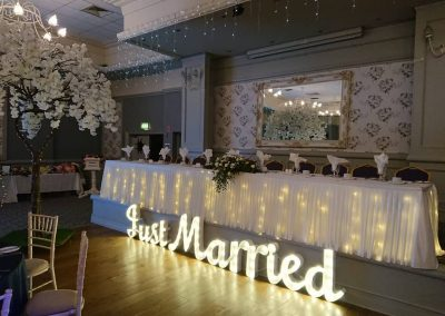 Just Married Light Up Letters NI